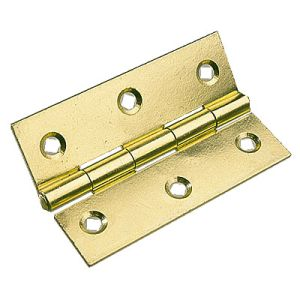 Steel Butt Hinges | Brass Plated