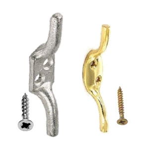 Galvanised Cleat Hooks | Brass Roman Blind Cord Hooks