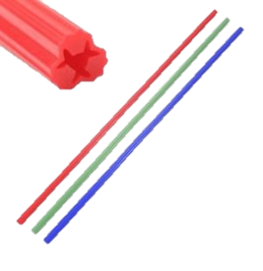 Cut to length wall plug strips Red Green Blue
