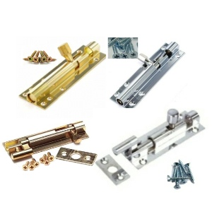 Brass & Chrome Door Bolts