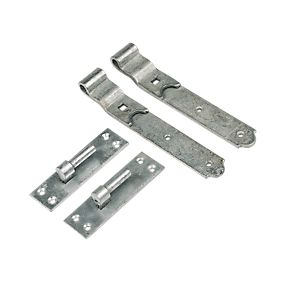 hook and band cranked hinges galvanised
