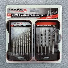 HSS drill set | Masonry drills | Quick release flat wood bits | brad point drill assortment
