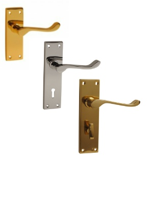 Victorian scroll lever handles | latch lock bathroom handles