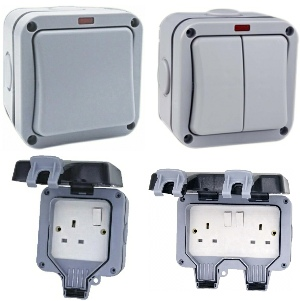 IP66 weatherproof switches and sockets