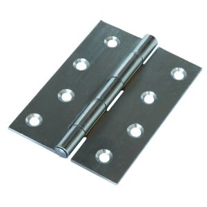 "Steel Butt Hinges Self Colour 100mm (4"") - 5 pairs no screws"