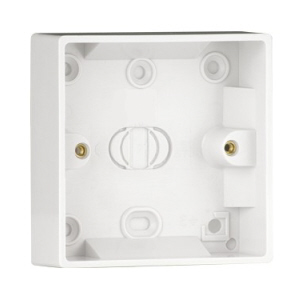 Pattress Box 1 Gang 25mm Surface Mounted  White