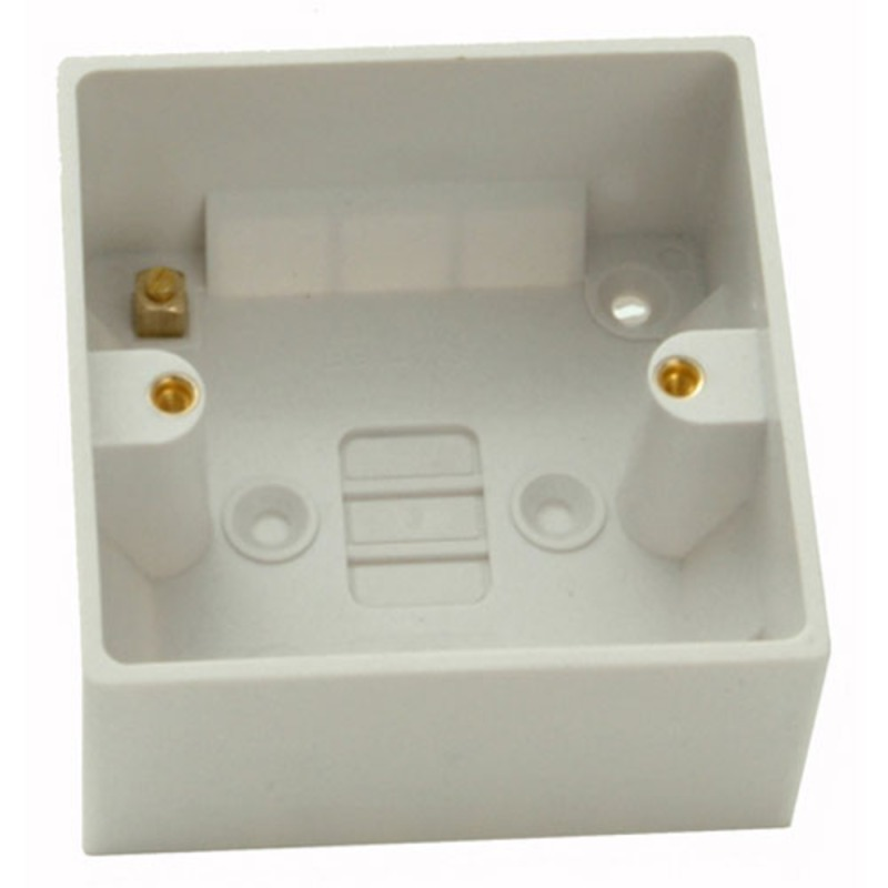 Pattress Box 1 Gang 47mm Surface Mounted  White