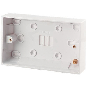 Pattress Box 2 Gang 25mm Surface Mounted  White