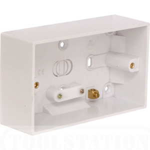 Pattress Box 2 Gang 47mm Surface Mounted  White