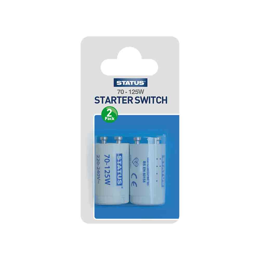 Status Fluorescent Starters  70 - 125w - Pack 2
