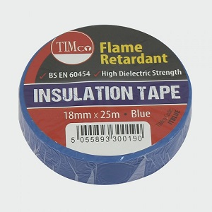 19mm x 25m Blue electrical insulating tape