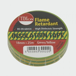 19mm x 25m Earth electrical insulating tape