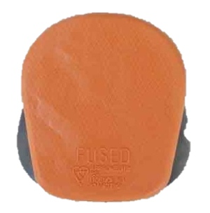 Plug Top 13amp Orange Rubber ,Kitemarked