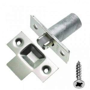 Adjustable Roller Cupboard Catch 19mm Nickel Plated packed with screws
