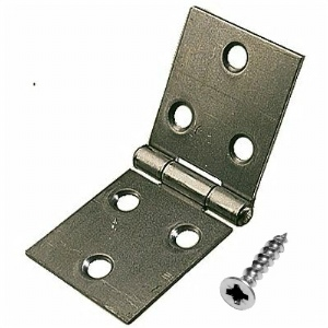 "Back Flap Hinges 1-1/2"" (38mm) Self Colour - 1 pair with screws"