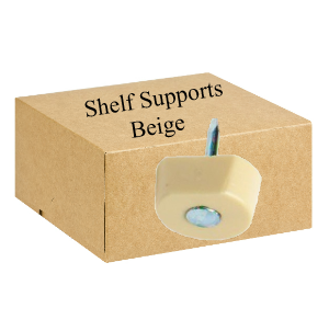 Shelf Supports Nail On  Beige - Bag 100