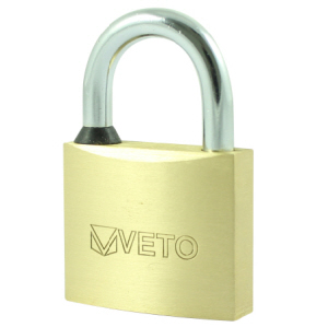 Veto Brass Padlock 30mm with 3 keys
