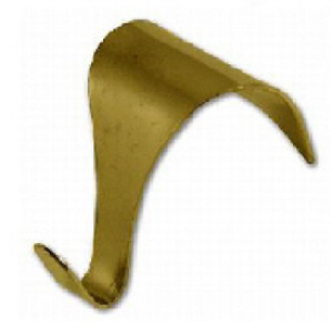 Picture Rail Moulding Hooks Brass Plated - Bag 10