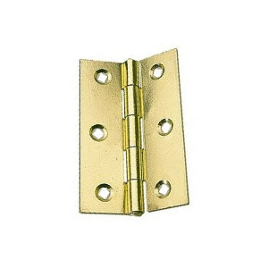 Steel Butt Hinges 63mm Brass Plated - 10 pair no screws