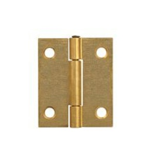 Steel Butt Hinges 40mm Brass Plated - 10 pair no screws