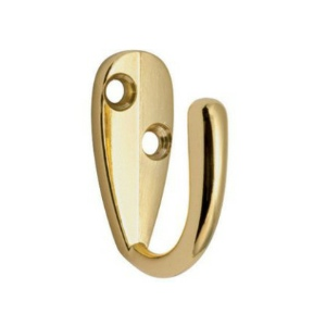 Single Robe Hooks Brass Plated - Bag 5