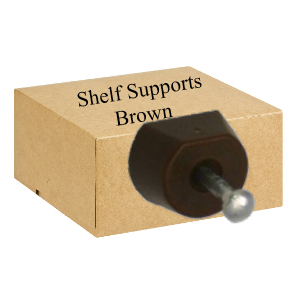 Shelf Supports Nail On  Brown - Bag 100