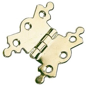 "Butterfly Hinges 2-1/8""  Brass Plated - 10 pairs no screws"