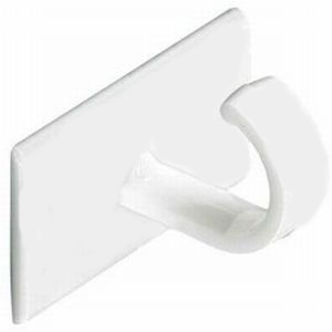 Self Adhesive Cup Hooks White - Bag 10