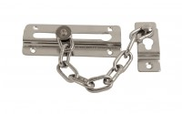 Door Security Chain, Chrome Plated, fixings included