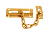 Door Security Chain, Brass Plated, fixings included