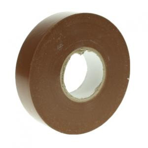 19mm x 20m Brown electrical insulating tape