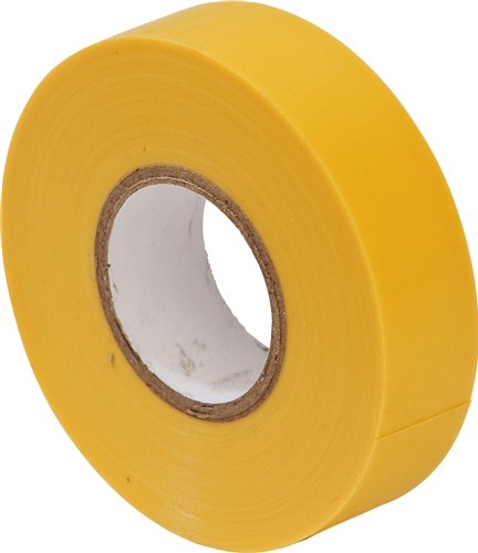 19mm x 20m Yellow electrical insulating tape