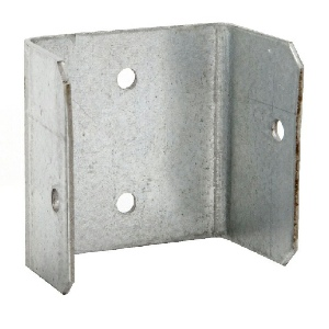 Timco Fence Panel Clips 44mm Galvanised - Pack 4