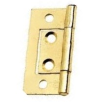 Flush Hinges 40mm Brass Plated - 10 pairs