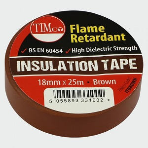 TIMco PVC Electrical Insulating Tape Brown -25m