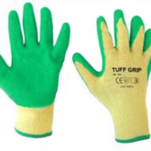 Green Grip Work Gloves 10 Pair Pack Medium to XL Builders Gardeners Size=Medium
