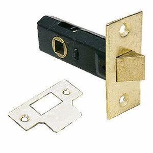 Mortice Latch 63mm Brass Plated