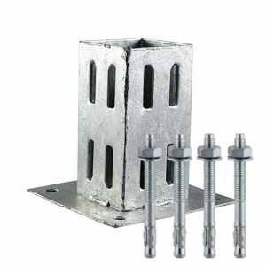 Timco Fence Post Support Quick Fit Shoe 75mm Hot Dipped Galvanised with FREE Fixings