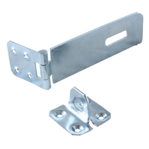 "Safety Hasp & Staple 4.5"" (115mm)  Zinc Plated - Box 10 no screws"
