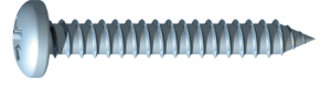 Self Tapping Screws 4 x 1/2 Zinc Plated Panhead Pozidrive - Pack 200