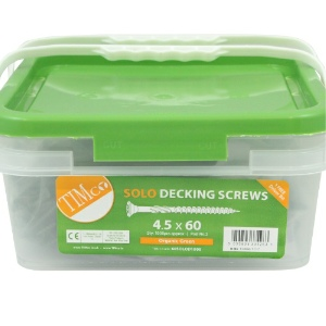 M4.5 x 60 Solo Softwood Decking Screws, Double Countersunk, Cross Recess, CE Marked - Tub 1000