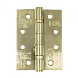 Steel Ball Bearing Hinges Brass Plated - 101mm - 1 pair with screws