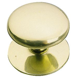 "Cupboard Knob 32mm (1-1/4"") Victorian Brass with screw"