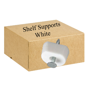 Shelf Supports Nail On  White - Bag 100