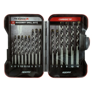 15pc. Addax Masonry Drill Set