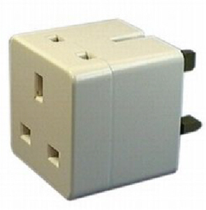 Status Double Socket Adaptor 13 amp Unfused (2 outlets)