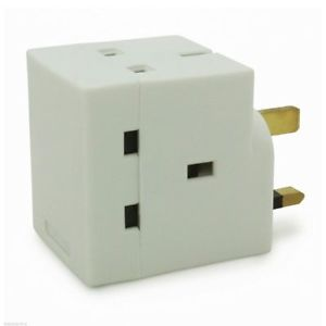Status Triple Socket Adaptor 13 amp Fused (3 outlets)