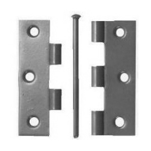 "PROPC089L - 2 x 89mm (3-1/2"") Loose Pin Butt Hinges Polished Chrome Plated with screws"