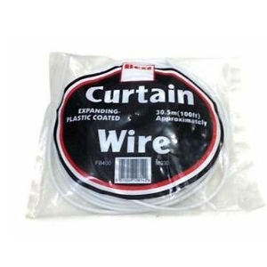 Expanding Curtain Wire and Hooks & Eyes