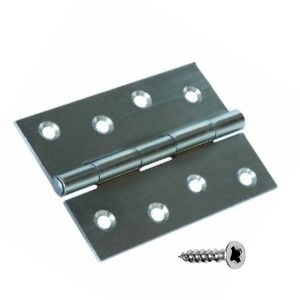 Steel Butt Hinges Self Colour 40mm - 100mm